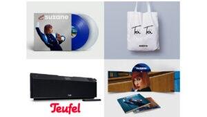 """Ersteigern Sie zum deutschen Album Release """"Toï Toï Toï"""" von SUZANE ein Fan-Paket mit einer TEUFEL Musicstation"""